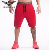 Wholesale Yellow Boys Trousers - Korkslores 2016 New Summer Mens Shorts Sporgymt Casual Short Brand Clothing Boys Shorts Men Jogger Trousers Knee Length Shorts