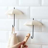 Wholesale key holders for wall - 3pcs lot Umbrella Shaped Creative Key Hanger Rack Home Decorative Holder Wall Hook For Kitchen Organizer Bathroom Accessories