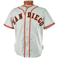 Wholesale Free San Francisco - San Diego 1950 Road Jersey 100% Stitched Embroidery Logos Vintage Baseball Jerseys Custom Any Name Any Number Free Shipping