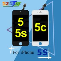 Wholesale Factory Replacement Parts - Factory Store for iPhone 5 5c 5s LCD Screen Display High Quality Screen Replacement Repair Parts Full Assembly 12 Months 100% Warranty