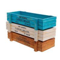 ingrosso tin wood boxes-Fashion Wooden Multifunctional Storage Desk Box For Flowers Plants Potting Desk Pen Organizer Garden Home Decoration