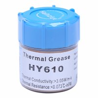 Wholesale cpu cooling thermal paste - 10g HY610-CN10 Thermal Grease Chipset CPU Cooling Compound Silicone Paste 3.05W New Drop shipping