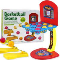neuheit spielzeug basketball großhandel-Eltern-Kind-Interaktion pädagogische Outdoor-Sport-Spielzeug Mini-Desktop-Basketball-Spiel Schießen Spielzeug Neuheit Geschenk 7yy C