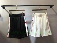 erkekler için boş pantolonlar toptan satış-2018 yaz yeni Lüks marka erkek spor eğlence şort Pantolon Joggers mens Yazılı şort Pantolon moda Erkek Tasarımcı şort pantolon