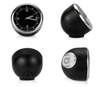 Wholesale auto clocks car online - Car Ornament Mini Decoration Automobiles Interior Clock Automotive Hygrometer Thermometer Auto Watch Clock In Car Accessories