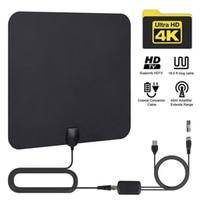 kapalı antenler toptan satış-HDTV Anten Kapalı TV Antenleri Ayrıca 720P, 1080i, 1080P, ATSC Amplifer Dijital Anten ile Uyumlu