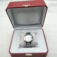 relógios de luxo de aço inoxidável venda por atacado-Barato Com Caixa Dos Homens Das Mulheres Relógios de Moda de Quartzo Relógio de Pulso de Aço Inoxidável Amantes De Luxo Homens Mulheres Relógio