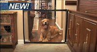 redes de magia al por mayor-Barrera de seguridad para perros Valla Magic-Gate Red de aislamiento para perros Barrera de aislamiento para mascotas plegable portátil Barra de aislamiento de seguridad Dispositivo de protección para perros de niños
