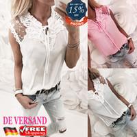 Wholesale v modes - Damen Spitze Patchwork Elegantes Bluse Mode Oberteil Arbeit Hemd Slim Top Shirt