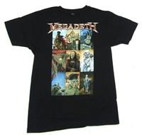 классические картины оптовых-Megadeth Vic Классические Художественные Картины Изображения Черный Футболка Новый Официальный Группа Merch