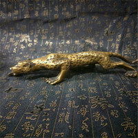 Wholesale engraving brass resale online - Antique Leopards Bronze Sculpture Cubism Panthers Statue Manual Metal Engraving Arts Crafts Gifts Furniture Ornament Home Decor yp bb
