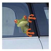 kurbağa araba çıkartmaları toptan satış-1 adet Komik 3D Çılgın Kurbağa Banyo Tuvalet Araba Kamyon Pencere Duvar Çıkartması Sticker Sıcak pegatinas paredes decoracion