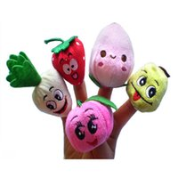 Wholesale finger fruits vegetables toys resale online - Cute Fruits and Vegetables Soft Finger Puppets Set for Children Early Development Learning Education Toys Gifts For Kids