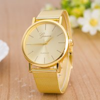Discount casual dress nude women - Famous Brand Gold Silver Casual Quartz Watch Women Mesh Stainless Steel Dress Women Watches Relogio Feminino Clock