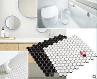 Vendita allingrosso di sconti piastrelle mosaico nero cucina in