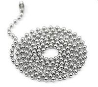ingrosso collana in acciaio inox-2.4mm 50cn 55cm 60cm 70cm Catena perline con sfere in acciaio inossidabile Collane con base rotonda perline Catene 4 dimensioni Scelta 20