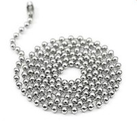 "Wholesale 24 ball chain necklaces - 2.4mm 50cn 55cm 60cm 70cm Stainless Steel Bead Ball Chains Necklaces Basic Round Bead Chains 4 size Choice 20""22""24""28"""