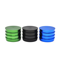 Wholesale cut crusher online - New Floor design Herb Grinder Aluminum Mixed Colors mm Layers Herbal Smoking Cutting Crusher Hand Muller Pollen Tobacco Grinder