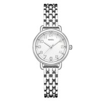 часы для женщин серебристый оптовых-Silver Bracelet Watch Women  Stainless Steel Strap Quartz Dress Watch Easy Read Arabic Dial Ladies Wrist Watches New
