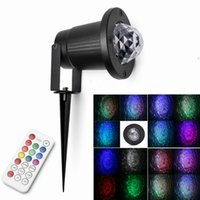 Wholesale IR Remote Laser Light LED Water Wave Ripple Effect Stage lighting Waterproof IP65 RGBW Christmas projector Outdoor Garden lamp