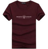 chemises décontractées pour hommes achat en gros de-New Summer Hommes T Shirts Designer Top Maserati Imprimer Mode Casual Tees O Cou Hip Hop Rue Style Cool Shirt Big Plus Taille 5xl