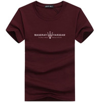 mens cool casual gömlekler toptan satış-Yeni Yaz Erkek T Shirt Tasarımcı Üst Maserati Baskı Moda Casual Tees O Boyun Hip Hop Sokak Tarzı Serin Gömlek Büyük Artı Boyutu 5xl