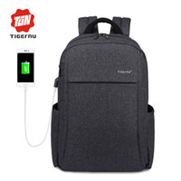 """Wholesale Anti Thief Bag - 2017 New Design Tigernu Anti-thief USB charging 15.6"""" laptop Compute backpack for women male Backpack school Bag for Men Mochila"""