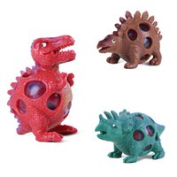 Wholesale stress relief toys for kids resale online - Creative Dinosaur Anti Stress Grape Ball Gadget Decompression Toy Stress Relief for Adults squeeze ball kids toddler toys