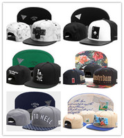 Wholesale pink swag hats for sale - Group buy Hot New Swag brand Cayler Sons brown Leather Snapback hip hop sport cap baseball hat for men women bones snapbacks bone gorras high quality