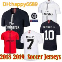 8e5e08ee0 18 19 psg champions soccer jersey 7 mbappe black white Paris maillot de  foot 2018 2019 Paris 9 CAVANI third 3rd Football uniform shirts