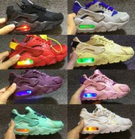 Wholesale leather shoes children online - 2018 Air Huarache infant Running Shoes kids sports White Children Huaraches huraches Designer Hurache Casual trainers Baby Running Sneakers