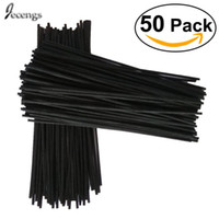 palos difusores de caña de ratán al por mayor-50 Repuesto de difusor de fragancia Reed Black Rattan Sticks 300mm * 3.5MM