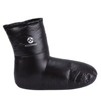 zapatillas al por mayor-AEGISMAX Down Booties Calcetines Warm Soft Slippers Down Filled Slipper Boots Interior Warm Plus Size para hombre 29cm / 11.4 pulgadas