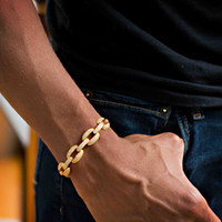 iced out jewelry set 2018 - 21cm 2018 cuban link chain lab diamond cz mens bracelet gold plated iced out bling Cool Hip hop Rock boy men jewelry chain