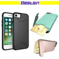 Wholesale multiple light - Bestsin Multiple Functions Kickstand Shockproof Card Slot Pocket For Iphone 6 to X case Free DHL