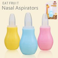 Wholesale food card - Infants Anti-backwash Nasal Aspirators Food Grade Silica Gel Pump Pressure Nasal Mucus Clean Tool Baby Accessories Safety with Card Package