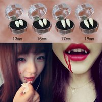 Wholesale Black Zombie - 1 pair Halloween Party Dentures Props Vampire Zombie Devil Fangs Teeth Horrific Dress Vampire Teeth