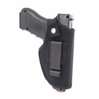 coldres para a esquerda venda por atacado-Coldre de pistola de nylon EDC com cinto de clipe de metal oculto fora ou dentro da cintura para a mão esquerda direita se encaixa na maioria das armas