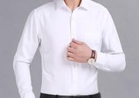 ingrosso immagine vestito sottile-Immagine reale 100% cotone Camicie da uomo Camicie di marca Abbigliamento Camisa Camicie casual da uomo sociale Camicia slim fit a maniche lunghe Camisa Masculina