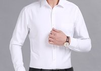 Wholesale Real Clothes Brand - Real picture 100% cotton Men Dress Shirts Brand Clothing Fashion Camisa Social Casual Men Shirt twill Slim Fit Long Sleeve Camisa Masculina