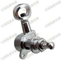 Wholesale tuning keys for electric guitars - 6R Silver tuner guitar accessories for Electric Guitar strings button Tuning Pegs Keys Guitar Parts