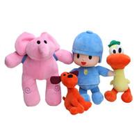 ingrosso doni pocoyo-Anime 4 pz / lotto Bambini Brinquedos Regalo Pocoyo Elly Pato POCOYO Loula farcito giocattoli di peluche Buon regalo per i bambini