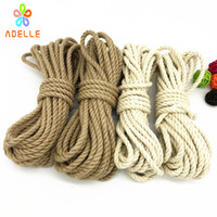детские игрушки оптовых-2 colors Jute Twine rope 6mm*10yard twine Strong bondage shibari kinbaku sex toys product free shipping 2 pieces