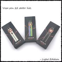 kits led al por mayor-Vape Pen 22 Kit Light Edition 1650mAh Batería con tanque base de 4 ml LED para bobinas de tira de malla