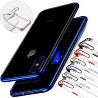 cradle entwürfe großhandel-Weiche TPU-Silikon-klare Überzug-Fälle für iPhone X Xs Max XR 8 6 6S 7 plus Anti-Schock für Samusng Galaxy Note 8 9 S9 S8 S7 Cradle Design