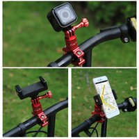 Wholesale gopro hero head - 360 Degree Rotation Bicycle Adapter Mount Aluminum Alloy Handlebar With Screw For GoPro HERO 6 5 Session 5 4 Session 4 3+