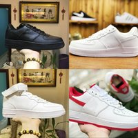 Wholesale euro shoes for sale - 2018 forces men low shoes Breathable one unisex knit Euro off designer air High women All white Black Red basketball running shoes