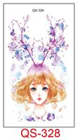 Wholesale Tattoo Color Arms - Christmas waterproof temporary tattoos for lady women sexy Magic color rabbit deer design tattoo sticker 10.5*6cm
