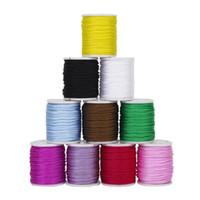 ingrosso corda in nylon di bracciale-HGHO-10pcs filo di nylon filo nodo cinese macrame cord braccialetto intrecciato stringa fai da te nappe bordare stringa di shamballa filo