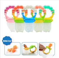Wholesale pacifier rings - Baby Pacifiers Kids Silicone Nipple Fruit Vegetables Tolddler Soothing Pacifier With Ringing Bell Toddle Food Feeder Bite Feeding XYY02